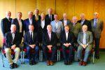 L-R BACK: Kevin O'Reilly (EMDA), Gavin Edwards (LAI), Chris Lundy (AECI), John McAuley (ETCI), Seamus Elmore (EIFI), Noel Simpson (AEW), Pat Tully (EMDA President), James Whan (EMDA/IEBA), Geoff Peat (IEBA), Cel O'Reilly (IEBA), Neil van Lonkhyuzen (EMDA). L-R FRONT: Ger Buckley (ETCI), Sean Downey (EIFI), Adrian Harney (ETCI Chairman), Jim Rice (EIFI), Tim Ferris (ECA).